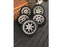 5 x16 inch mg hairpin alloys with tyres
