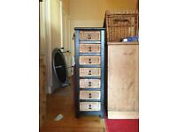 Tall wicker set of drawers - sold pending collection
