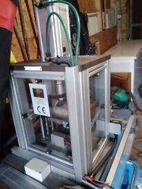 pneumatically operated automatic heavy duty press