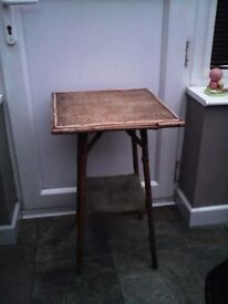 VINTAGE CANE / BAMBOO TABLE