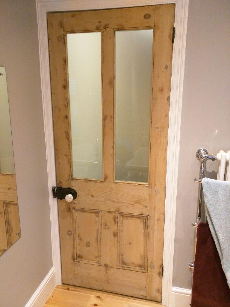 Original Antique Internal Victorian Door With New Safety