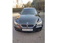BMW 5 SERIES 525D SE Auto 2.5 Diesel 4dr 2005 BLACK, GENUINE LOW MILEAGE HISTORY.