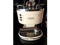 DeLonhgi Espresso machine and bean grinder