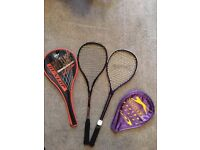 Dunlop and Slazenger Squash Rackets (Two rackets)