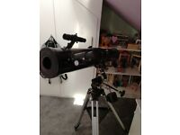 Saxon reflector telescope model 1149 EQ bought for present set up in room but never used