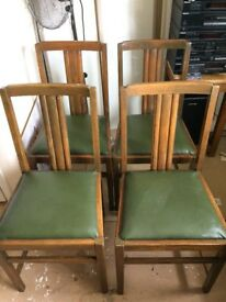 4 Ercol vintage oak dining chairs