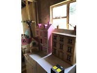 Three dolls houses