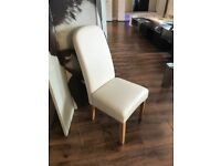 Jennifer Dining Chair In Cream Faux Leather