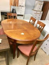 Cherry wood dining set. Stylish living pitch
