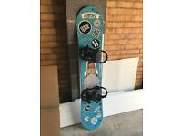 153cm snowboard and bindings