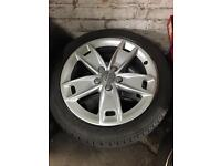 Genuine Audi A3 sport a4 vag golf seat skoda 17inch alloys new condition tyres 6.5mm 5112 vag