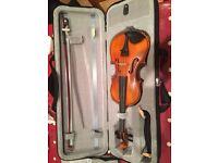 Hidersine 1/2 size violin