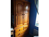 Gentleman's Wardrobe - Antique Pine
