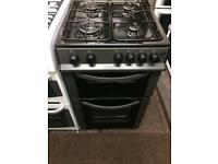 Black logic 50cm gas cooker grill & oven good condition with guarantee bargain
