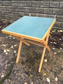 Square fold away table (card table)