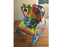 Baby bouncer chair turns into toddler chair