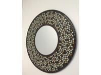Beautiful brown mosaic mirror