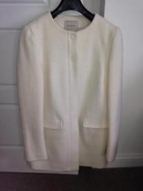 ZARA cream white coat size EUR S