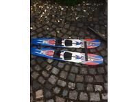 Pair of kids water skis