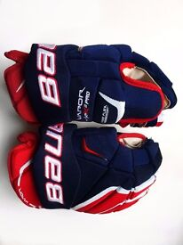"""BAUER APX2 Pro 15"""" Adult Hockey Gloves **LIKE NEW"""