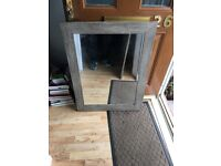 Mirror with Laminated wood surround