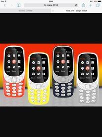 NOKIA 3310 NEW 2017 DUAL SIM 2MP CAMERA LONG BATTERY LIFE Retro-Fantastic Phone.. Factory settings