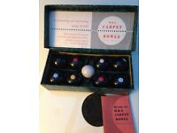 Carpet Bowls B & A Vintage Very Good Condition Great Christmas present!