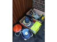 Free kitchenware, cutlery, utensils, glasses, pan, rice cooker, blender, tagine, chopping boards