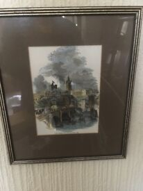 TWO FRAMED PRINTS OF OLD NEWCASTLE