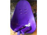 Purple Bloom high chair seat pad.