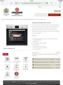 New Lamona oven for sale - COLLECTION ONLY