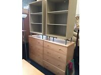 Ikea bedroom furniture - wardrobes - storage - drawer chests - 2 x single beds inc mattress