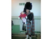 Experienced Highland Piper, all events, Highland dancers available.