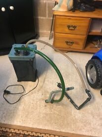 External filter for fish tank full work and clean with pipe and mediya look pic