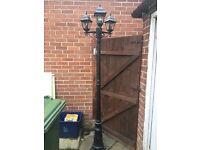 3 light lantern lamp post