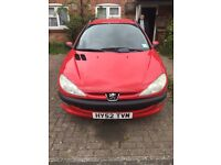 Peugeot 206 HDi sw estate Red.