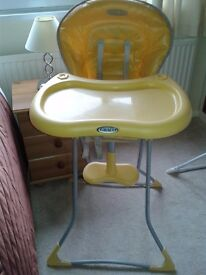 Graco high chair in lovely condition
