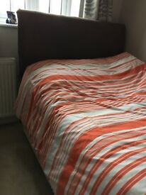 Double divan bed, small double, 4 foot wide, fair condition,surplus to requirements