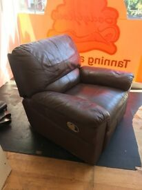 Reclining Brown leather Chair