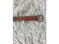 Leather belt from jigsaw - large