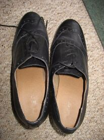 Next Ladies Black Lace Up Formal Shoes, Size 5.5 /Eur 38.5