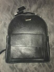 Women's Osprey London Genuine Leather Esme Large Black Backpack - Saffiano