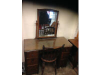 vintage retro dressing table dresser antique with mirror drawer chair Salisbury