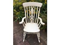 Oak rocking chair in cream