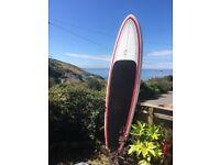 Surf stand up paddleboard circle one Jeff Townsley epoxy 10'2