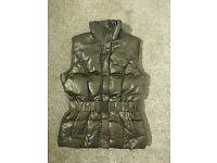 New black shimmery vest size S