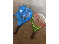 First and next size tennis rackets