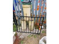 Single garden gate wrought iron (#6)