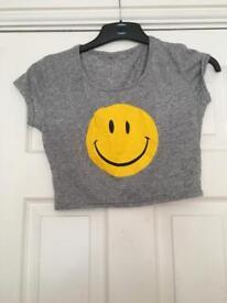 Smiley Crop Top