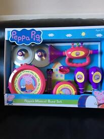 NEW Musical band set - Peppa Pig